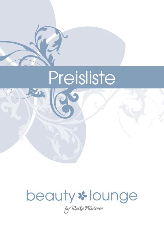 Beauty Lounge Preisliste
